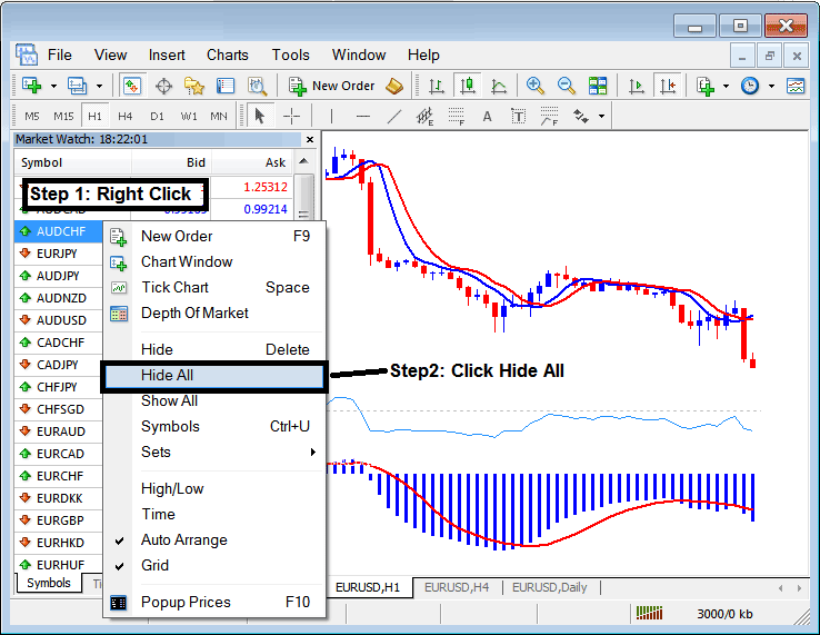 How To Hide Forex Currency Symbols on MT4 Forex Trading Platform to Save Internet Bandwidth