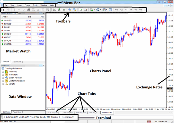 Example of a Forex Trading Software MetaTrader 4