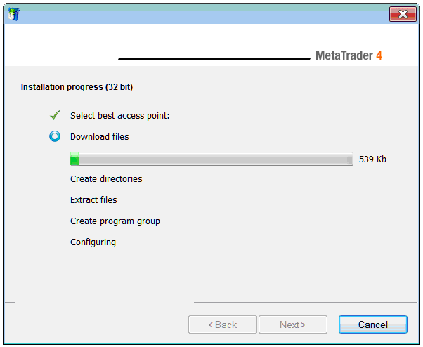 Metatrader 4 Installation on Windows 2008 Operating System