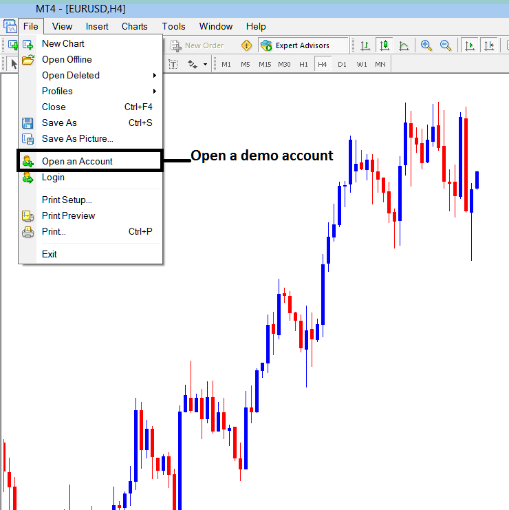 How to Open a New Demo Account From MetaTrader Forex Platform