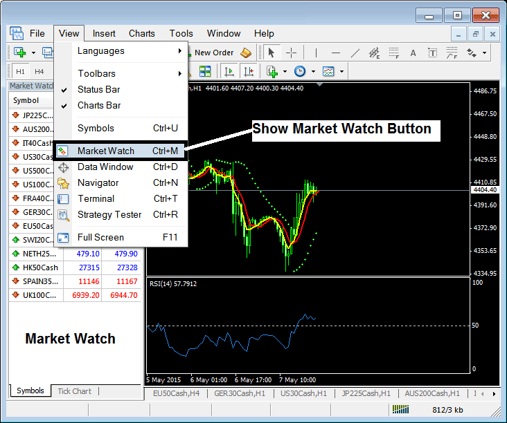 how to buy stock market index